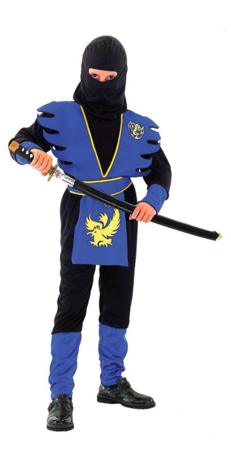 Ninja Halloween Costumes for Boys | Ninja Master Assassin Boys Fancy Dress Halloween Costume Thumbnail 2