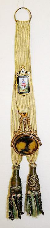 That's what that tassel thing is on 1800s clothing- hanging just below the waistcoat: the fob watch ribbon!