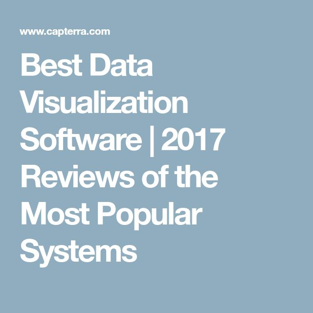Best Data Visualization Software | 2017 Reviews of the Most Popular Systems