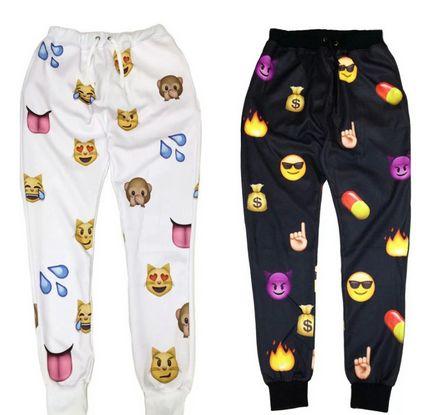 Trendy #Emoji Joggers and Emoji Sweatpants