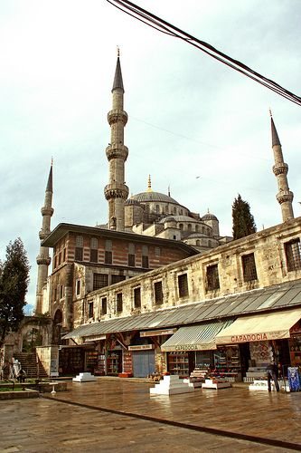 The Blue Mosque from Arasta Bazaar
