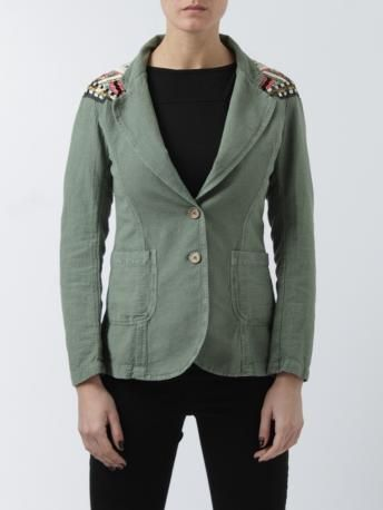 Project--[Foce]--Singleseason-giacca verde in cotone-two button cotton jacket-