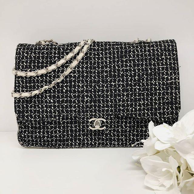 Fire Sale 2500 Wire Preloved Chanel Black White Tweed Sac Rabat