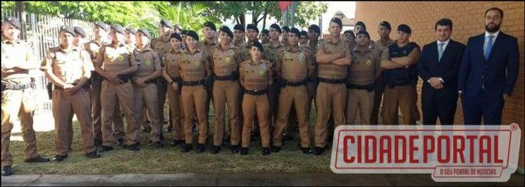 Poder Judiciário e Ministério Público de Ubiratã recepcionam os novos policiais que atuarão na área da 2ª CIA