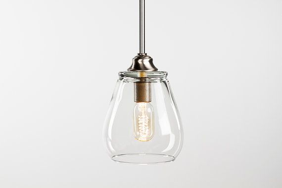 Edison Bulb Pendant Light Fixture  Brushed Nickel by DanCordero, $120.00