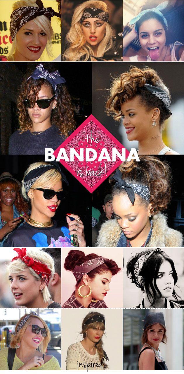 Bandana, como usar, lenço, paisley, cabelo, penteado, amarrar, Rihanna, Taylor Swift, Lady Gaga, tendência, trend, inspirações, faixa