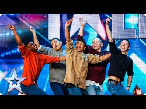 Golden buzzer act Boyband are back-flipping AMAZING! | Audition Week 2 |...