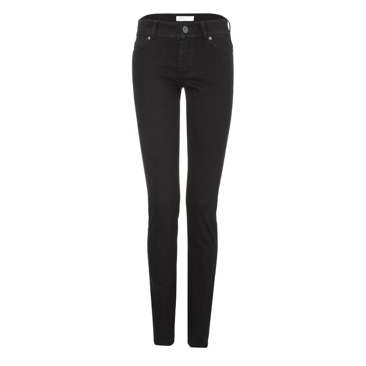 Womens Slim Jeans - Black One Wash - Goodsociety    - 1