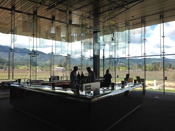 HALL Winery, Napa Valley - a beautiful tasting room with a lot of interesting art on the grounds