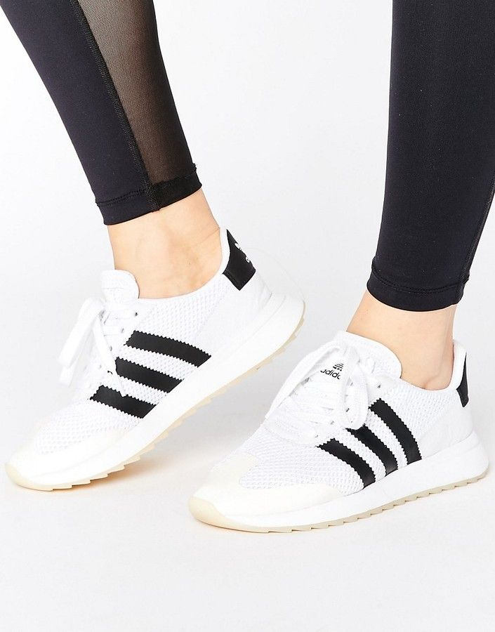 adidas Originals White FLB Sneakers - White