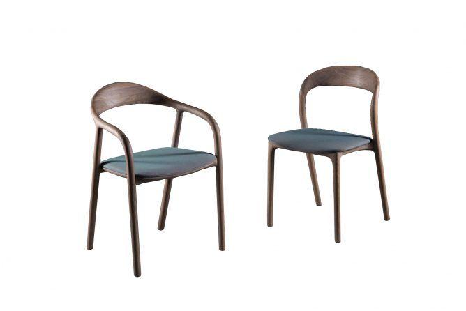 Neva Design eetkamerstoel in luxe notenhouten uitvoering