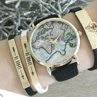 Montre carte du monde    Cette saison, la montre tendance est la montre carte du monde . On peut qu'adorer cette jolie montre hyper mode 20...