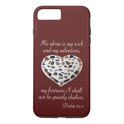 Rock of My Salvation Bible Verse Phone Case -nature diy customize sprecial design