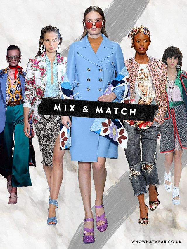 MIX & MATCH  Gucci, Altuzarra, Miu Miu, Dolce & Gabbana, Chanel  SS17 TRENDS