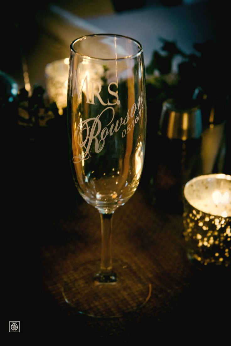 Wedding Glass | Bridal Glass | Reception Decor Ideas | Virginia Wedding Photographer | Wolftrap Farm Wedding | Personalized Wedding Glasses  www.potoksworldphotos.com