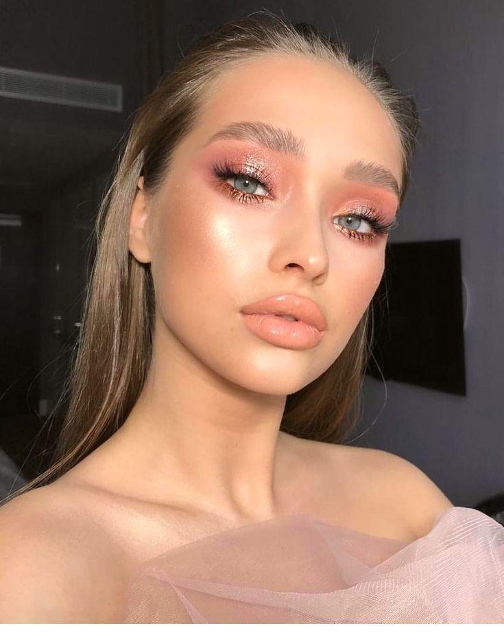 pink glowy eye makeup looks