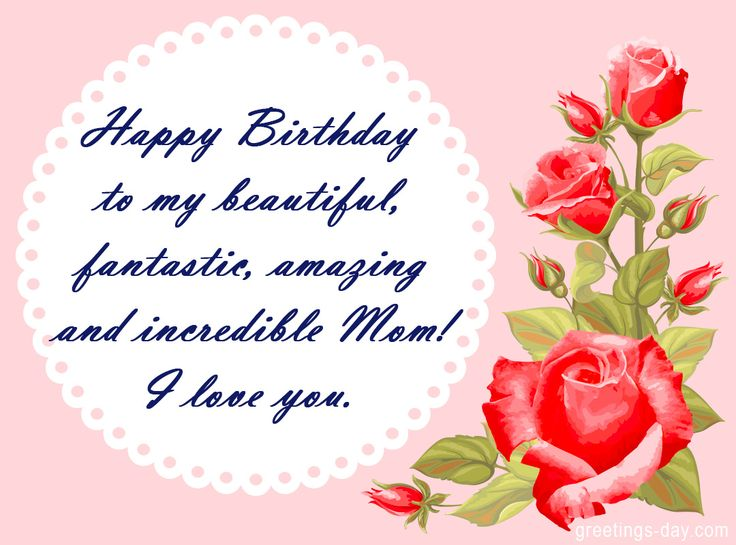 Best 25 Birthday wishes for mom ideas – Birthday Greeting Card for Mother