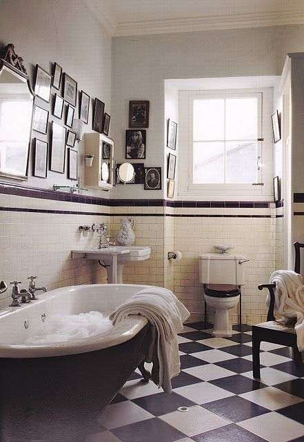 Bagno in stile liberty - Bagno con vasca