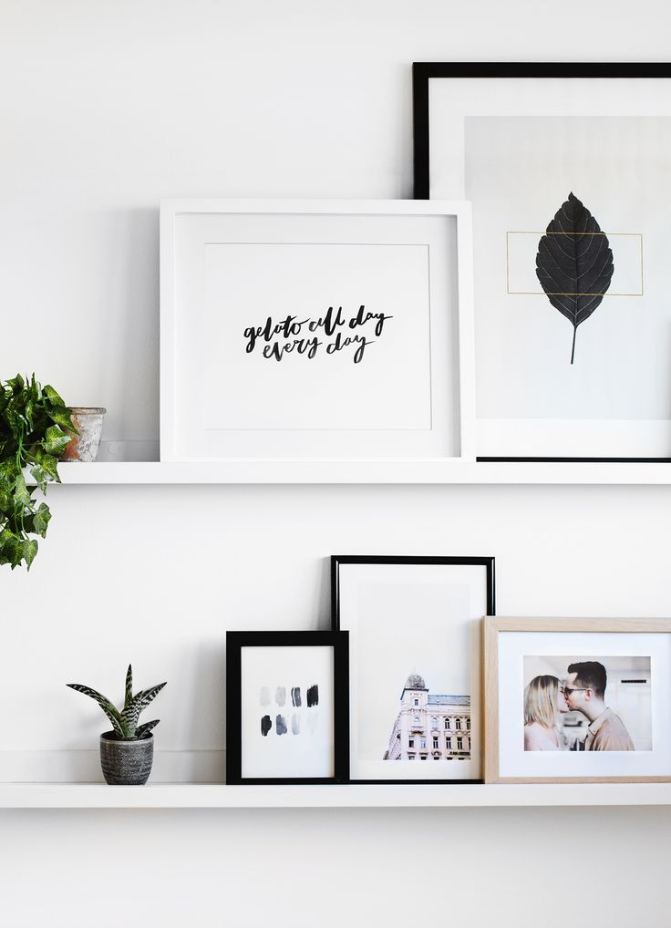 Love this gallery wall, decorate with personal and fine art photos. Are you  looking