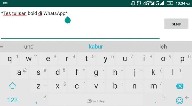 Cara Bikin Teks Miring dan Tebal di WhatsApp