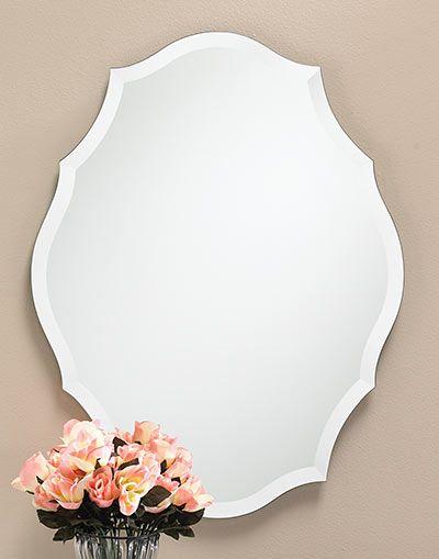 "Pattern Frameless Bevel Mirror - #309 23-1/2″w, 3/8""d, 30-1/2″h"