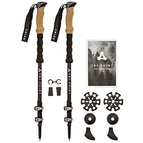 3K Carbon Fiber Trekking Poles - Collapsible Adjustable Lightweight - Strong Metal Quick Locks with Cork Grips - Hiking Running Nordic Walking Sticks -Telescoping Fitting Tall/Short Men Women & Kids. For product & price info go to:  https://all4hiking.com/products/3k-carbon-fiber-trekking-poles-collapsible-adjustable-lightweight-strong-metal-quick-locks-with-cork-grips-hiking-running-nordic-walking-sticks-telescoping-fitting-tall-short-men-women-ki/