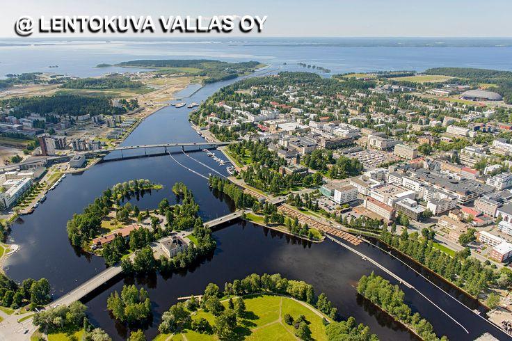 Joensuun kaupunkia ja Pielisjoki
