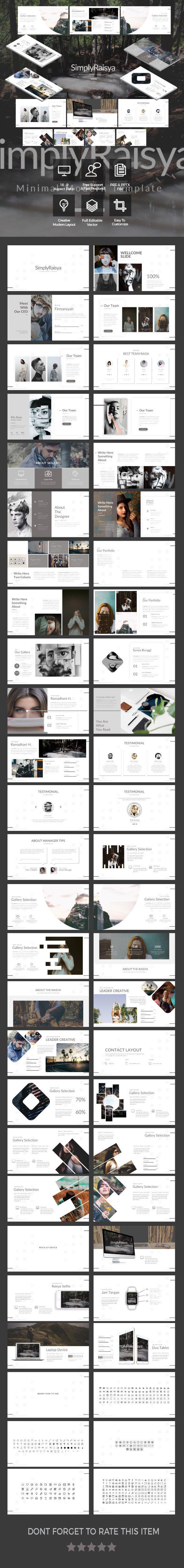 SimplyRaisya - Simple Presentation Template