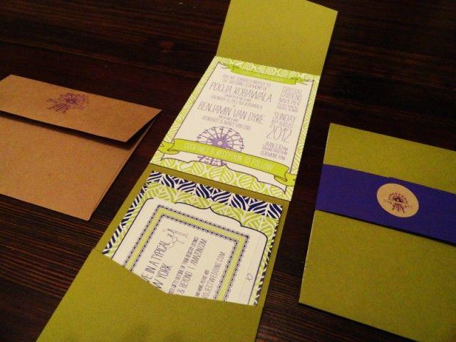 Custom Indian Letterpress Invitation Suite