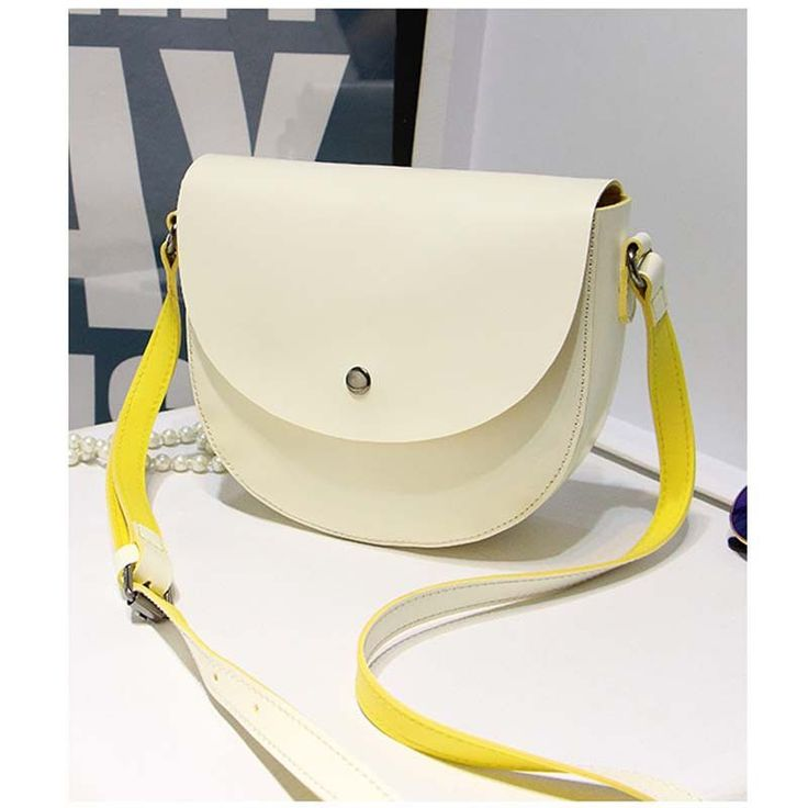 six candy color lady and fresh high quality girl/woman messenger bag women bag cross body bag school bag Saddle PU Leather