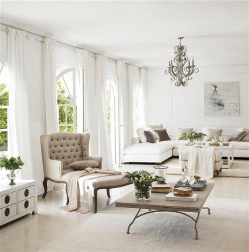 White Living Spaces: 63 Best :: Living Rooms :: Images On Pinterest