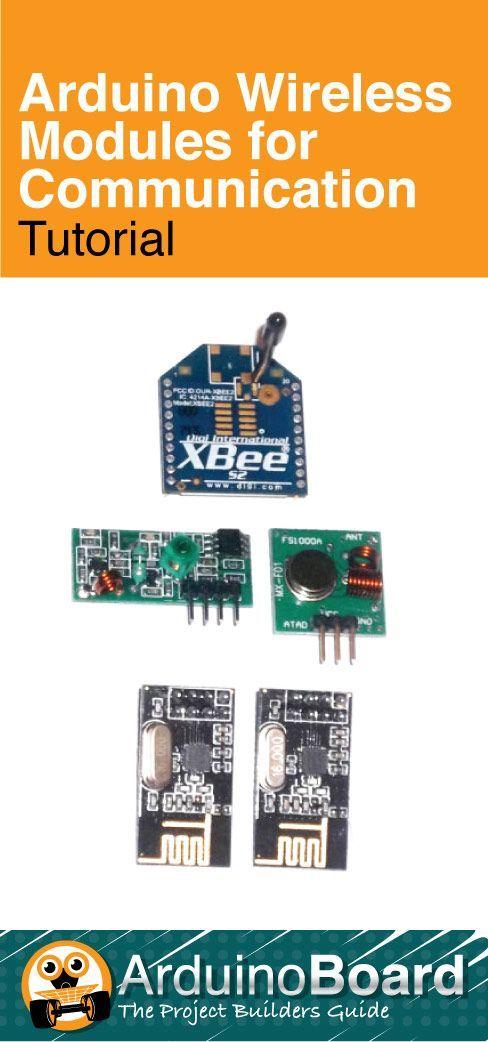 Arduino Wireless Modules for Communication - CLICK HERE for Tutorial https://arduino-board.com/tutorials/wireless-modules