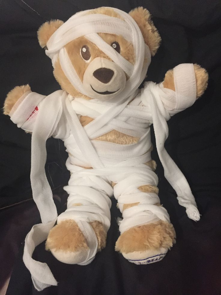 Halloween Build A Bear Mummy Costume Simply Wrapped This In Crepe Bandage To Create