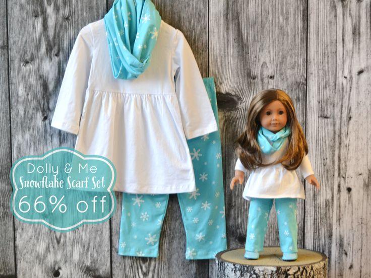 Snowflake Scarf Set:  For little ladies and their dollies!  66% off retail through 11/9/15
