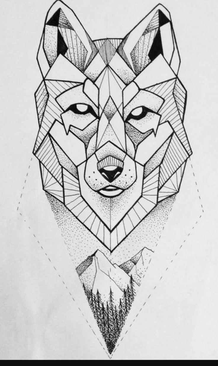 День рождения, геометрические картинки животных