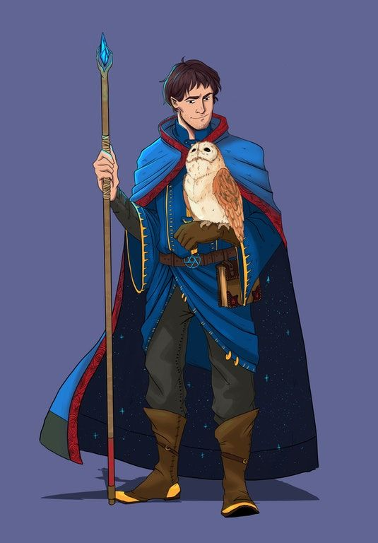 1f8154efb61 Art  Commission of the Human Wizard Martin   DnD
