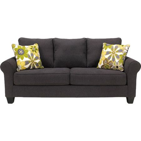 Perfect anchoring your living room or parlor seating group this lovely sofa features charcoal