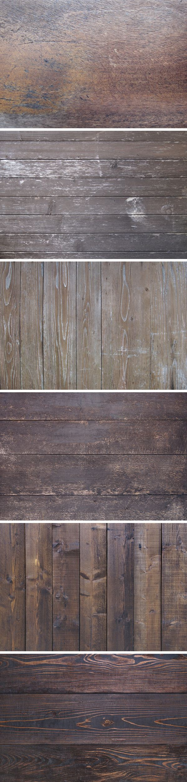 FREE - A set of six high quality aged wood textures to use with your vintage style designs.