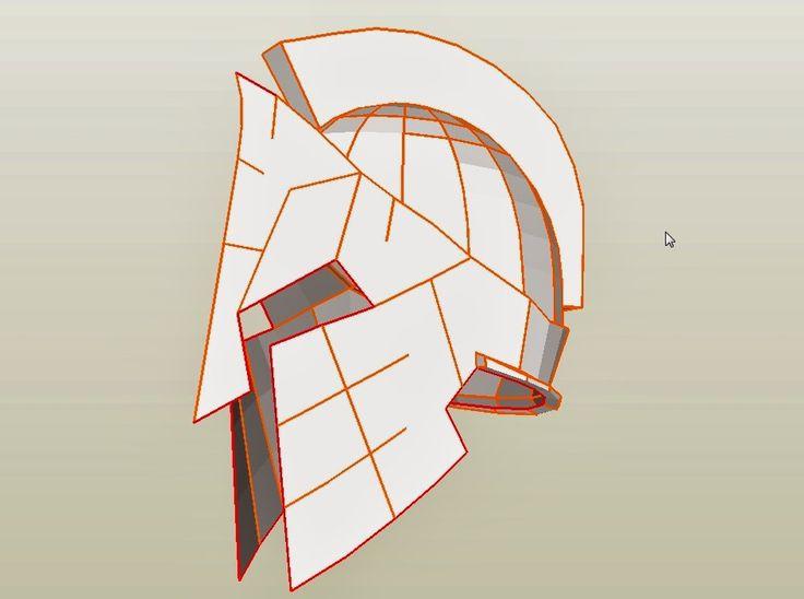 Spartan 300 King Leonidas Costume Helmet DIY: Cardboard (with PDF template)