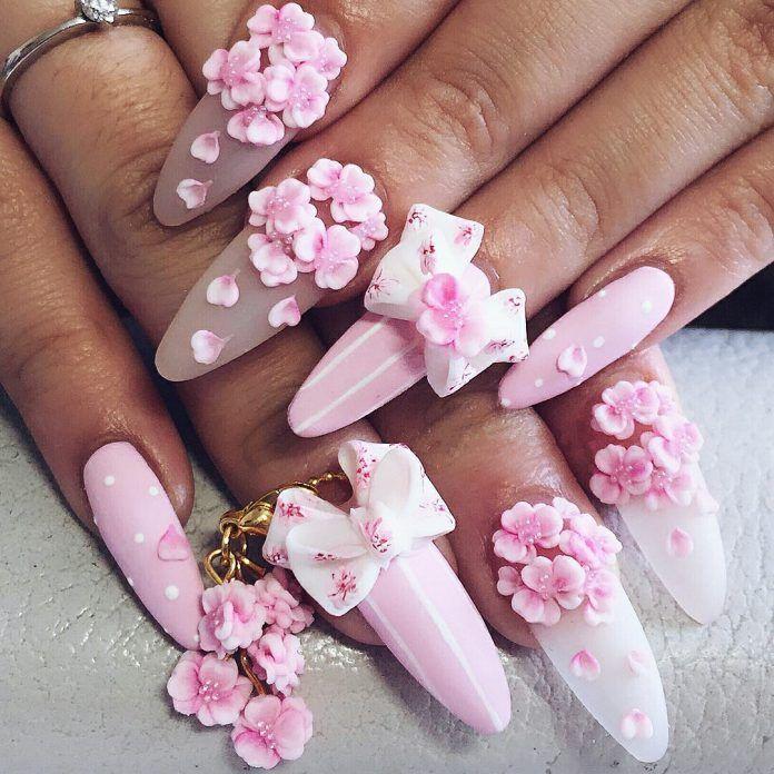 3d Bow Nail Art Bow Nail Art 3d Flower Nails Flower Nails
