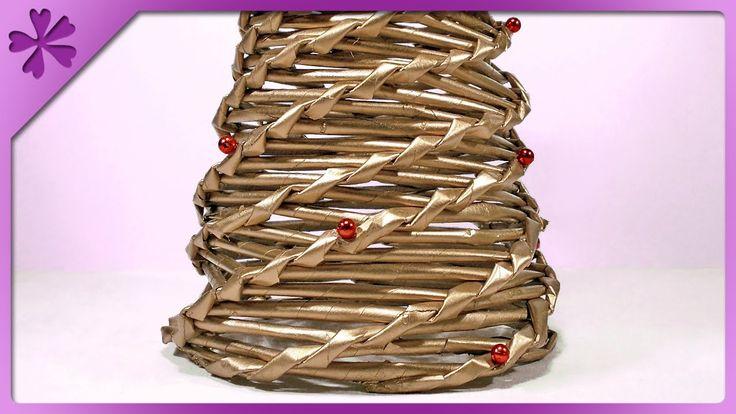 DIY Paper wicker Christmas tree (ENG Subtitles) - Speed up #44