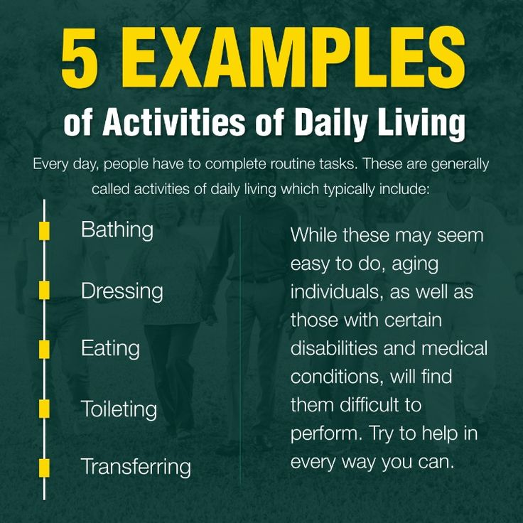 5 Examples of Activities of Daily Living SeniorCare