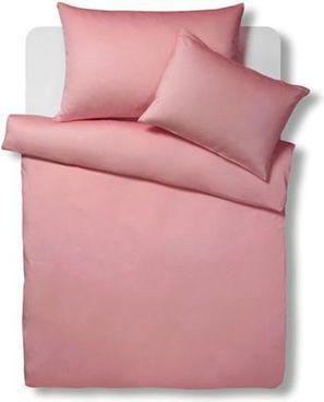 Living Home Uni Satin Bettwäsche-Set, rosa #Bettbezug #Kissenbezug #Duvetbezug #Schlafzimmer #Textilien #rosarot #Galaxus