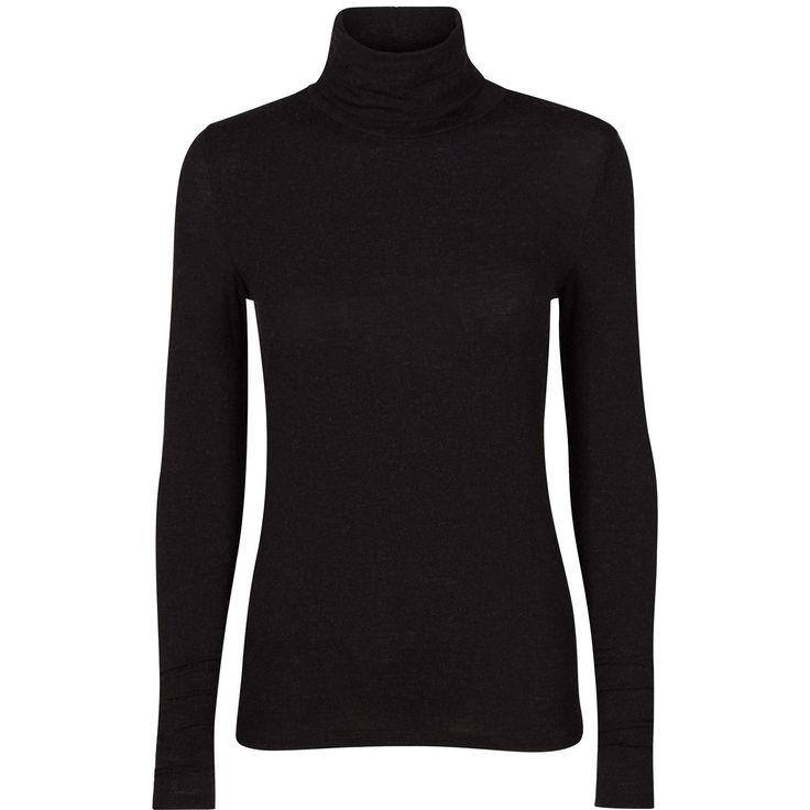 Identity rollneck top soft rollneck top black swan fashion