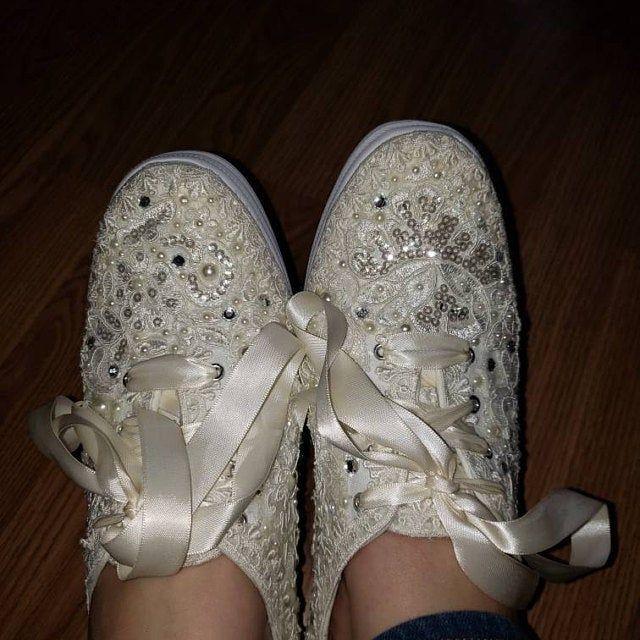 Wedding Sneakers Bridal Tennis Shoes Flats