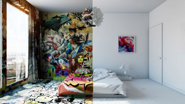 This Room Perfectly Blends Minimalism And Maximalism  - ELLEDecor.com