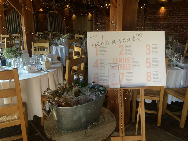 Why not treat your guests to an iced bucket of beers to quench their thirst during your wedding breakfast in our rustic barn  Kent wedding venue - www.theferryhouseinn.co.uk