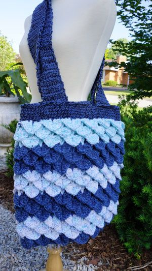 Free Crochet Pattern. Learn to make this Crocodile on the Beach Bag designed by Michael Sellick of The Crochet Crowd. This pattern is complimentary.