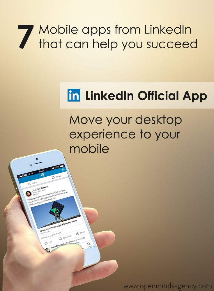 Use LinkedIn App and move your desktop experience to your mobile Read our blog to know more: [Click on the image] #omagency #linkedIn #mobile
