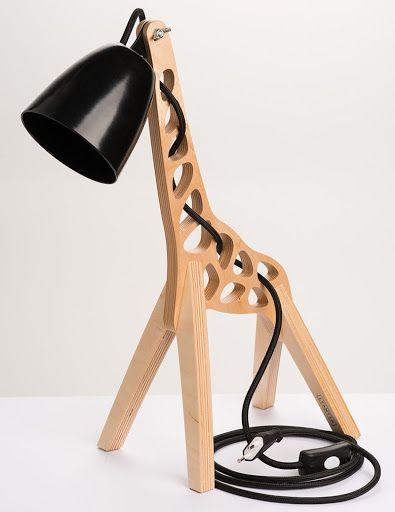 Giraffe lamp.